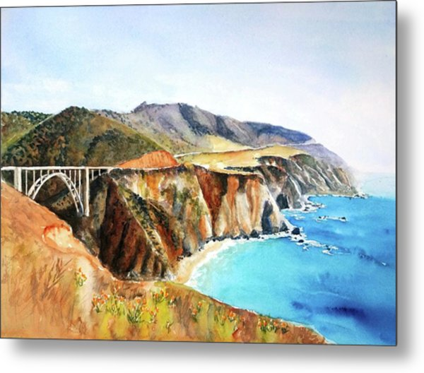 Bixby Bridge Big Sur Coast California Metal Print