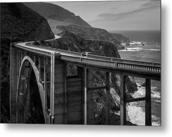 Bixby Bridge Big Sur II Bw Metal Print