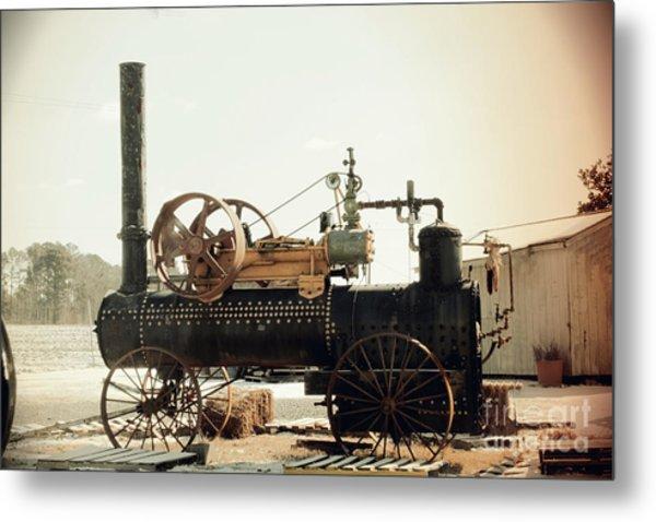 Black And Glorious Steam Machine Metal Print