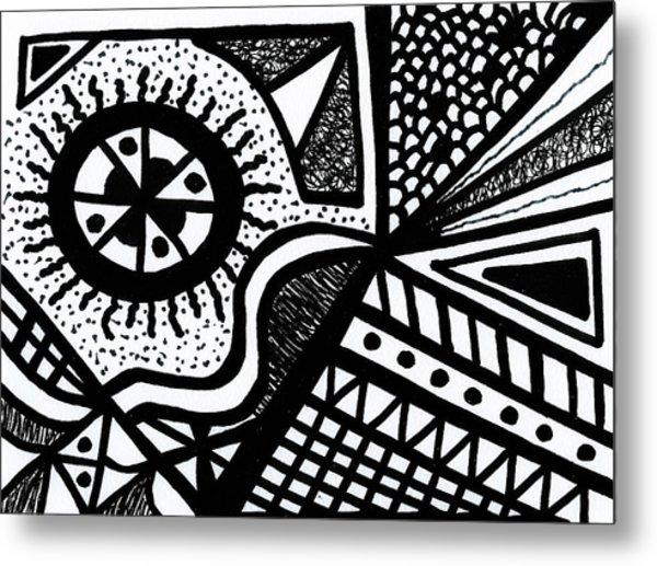 Black And White 14 Metal Print