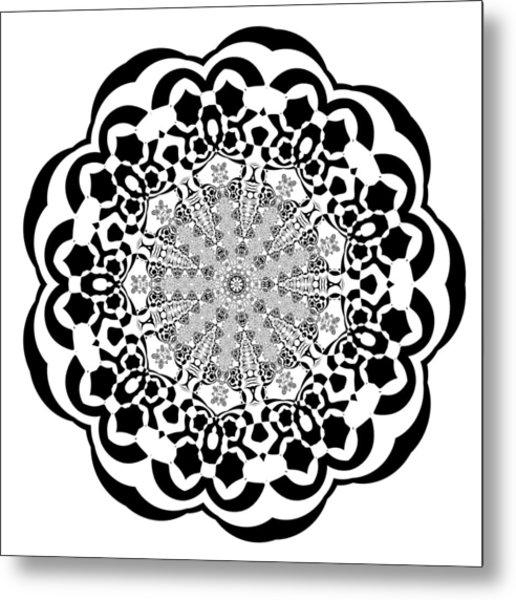 Metal Print featuring the digital art Black And White 4 by Robert Thalmeier