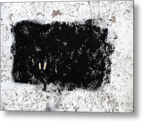 Black And White Abstraction Metal Print by JoAnn Lense