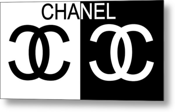 Black And White Chanel Metal Print