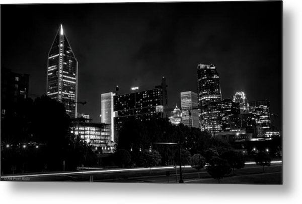 Black And White Downtown Metal Print