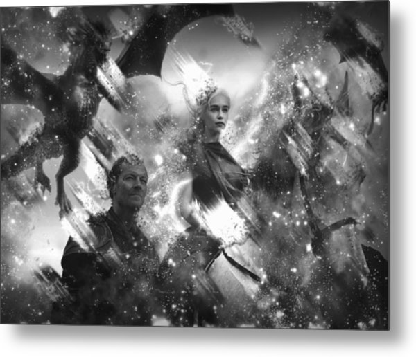 Black And White Games Of Thrones Another Story Metal Print