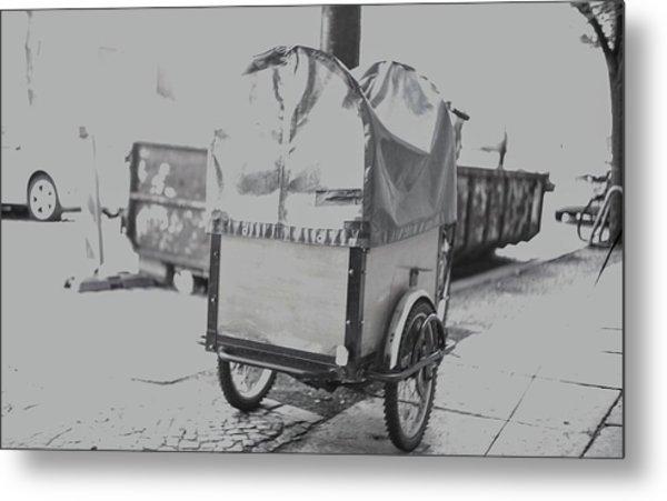 Black And White German Stroller Metal Print