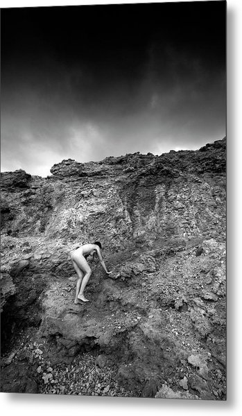 Black And White Nude 029 Metal Print by Manolis Tsantakis