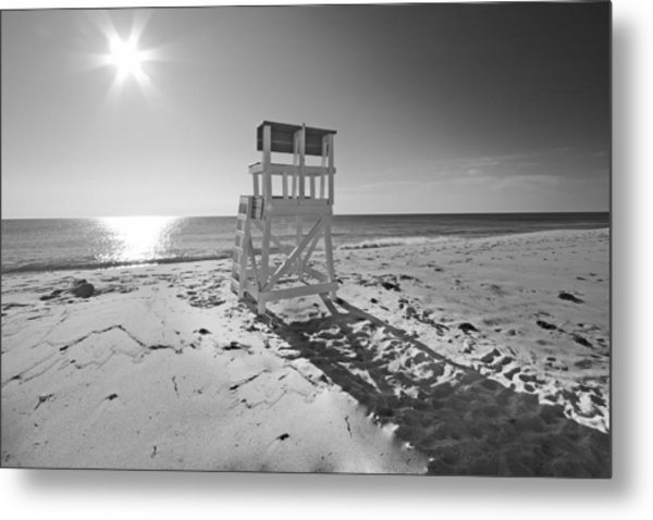Black And White Photography The Beach Metal Print by Dapixara Art