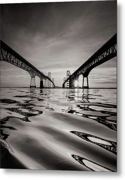Black And White Reflections Metal Print