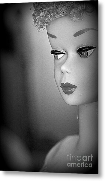 Black And White Reproduction Metal Print