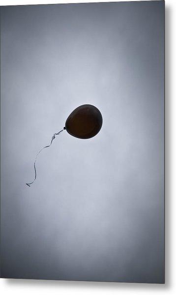Black Balloon Metal Print