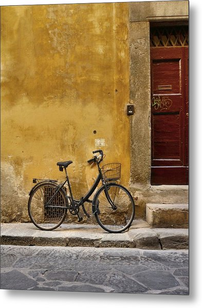 Black Bike Metal Print