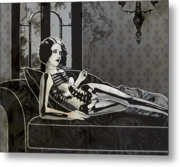 Black Blanche Metal Print