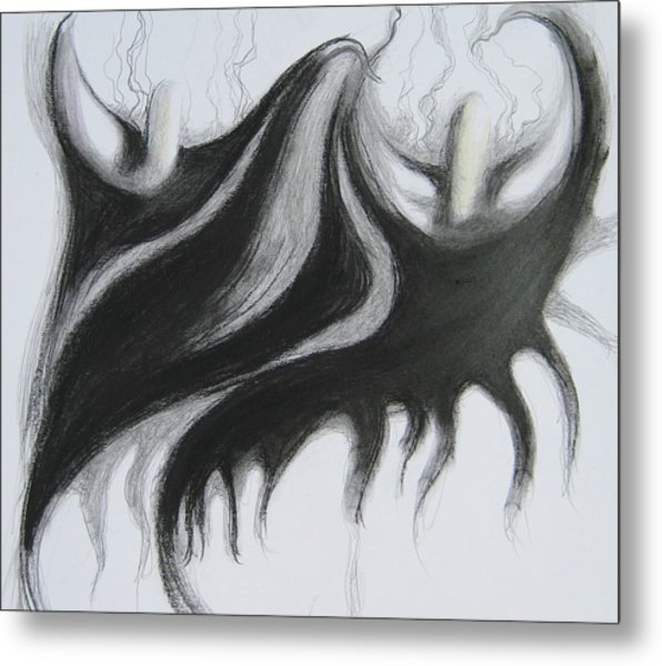 Black Callas Metal Print