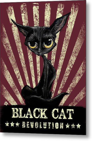 Black Cat Revolution Metal Print