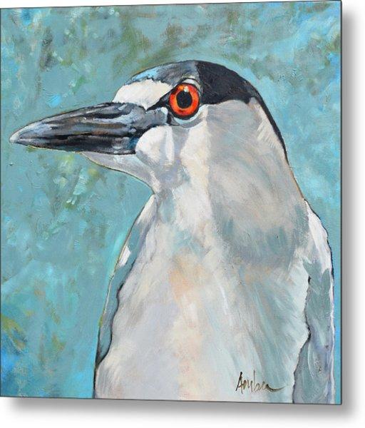 Black Crowned Night Heron #1 Metal Print