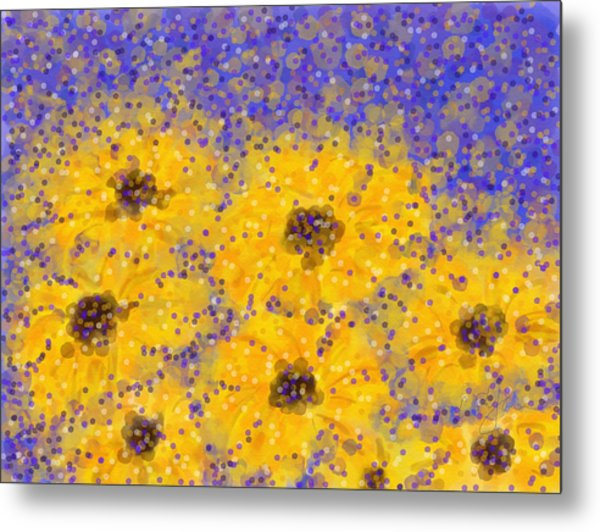 Metal Print featuring the digital art Black Eyed Susan by Cristina Stefan