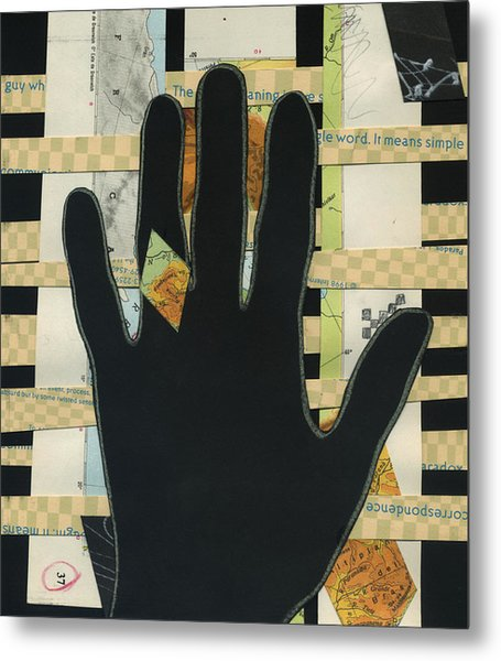 Black Hand Collage Metal Print