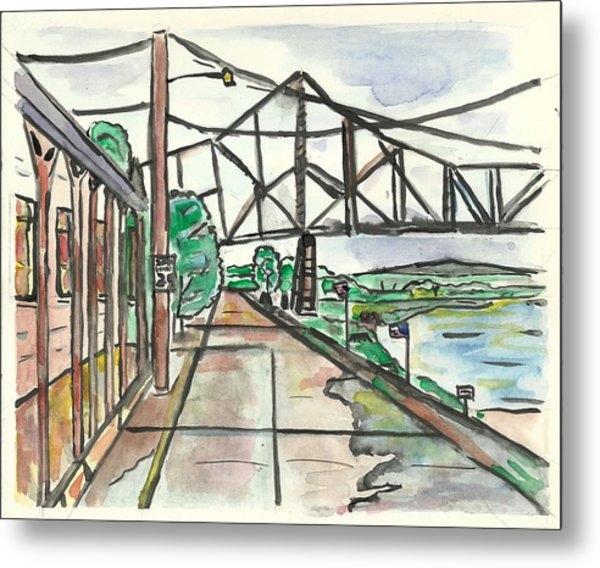 Black Hawk Bridge Metal Print
