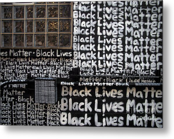 Black Lives Matter Wall Part 1 Of 9 Metal Print