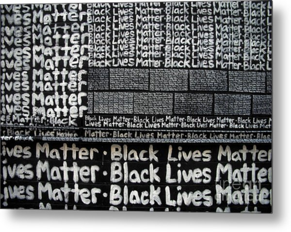 Black Lives Matter Wall Part 2 Of 9 Metal Print