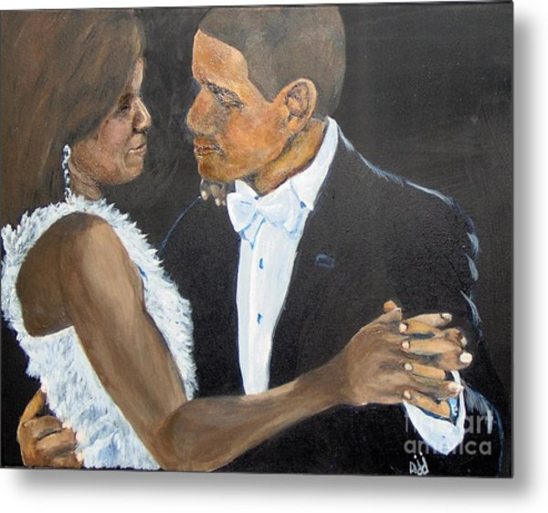 Metal Print featuring the painting Black Love Is Black Power by Saundra Johnson