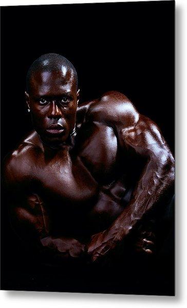 Black Male Fitness Model Metal Print