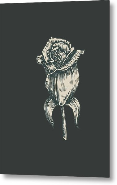 Metal Print featuring the digital art Black On Black by ReInVintaged