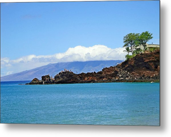 Black Rock Beach And Lanai Metal Print
