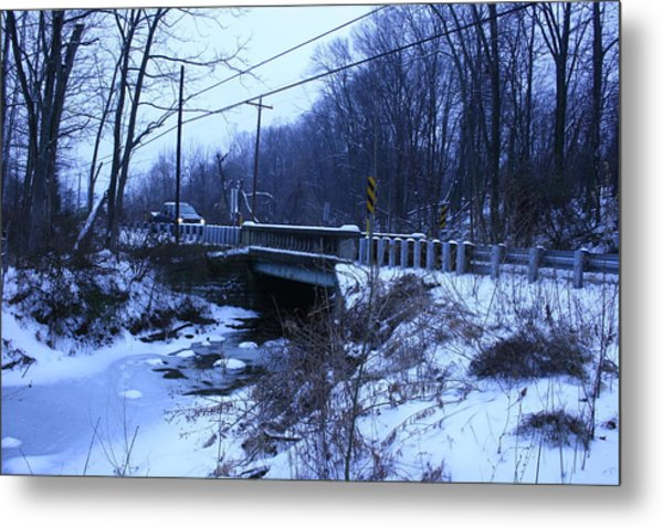 Black Rock Bridge Metal Print