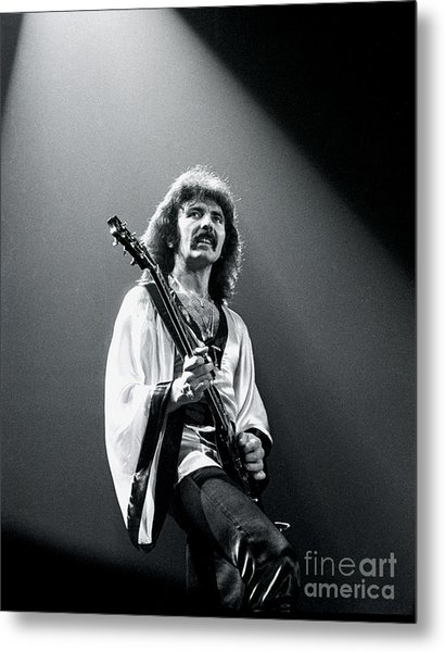 Black Sabbath 1978 Tony Iommi Metal Print by Chris Walter
