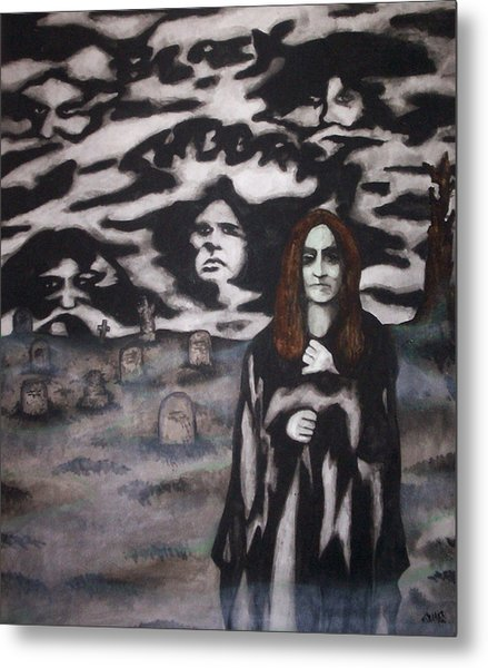 Black Sabbath Tribute Metal Print by Sam Hane