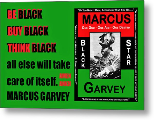 Black Star Garvey Metal Print
