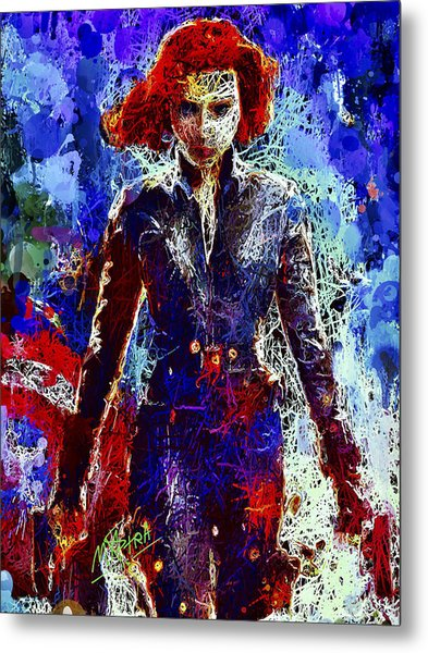 Black Widow Metal Print