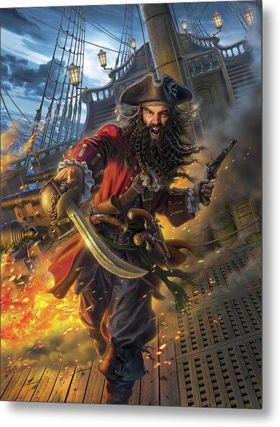 Blackbeard Metal Print