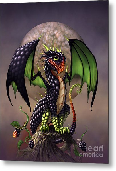 Blackberry Dragon Metal Print