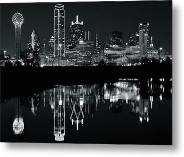 Blackest Night In Big D Metal Print