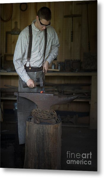 Blacksmith At Work Metal Print