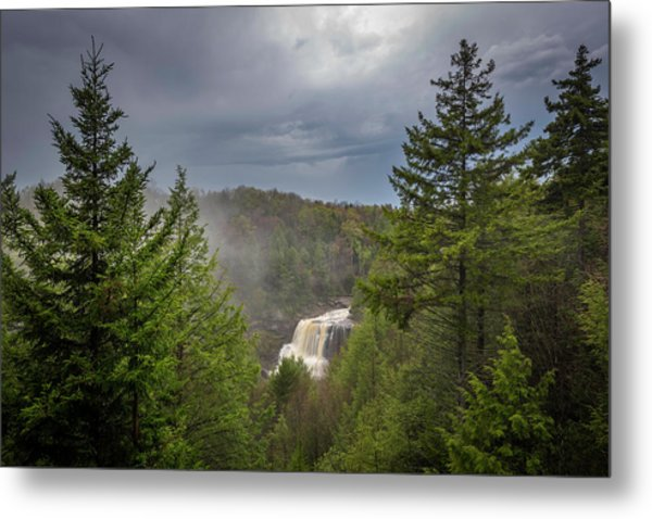 Blackwater Falls In Spring Metal Print by Michael Donahue