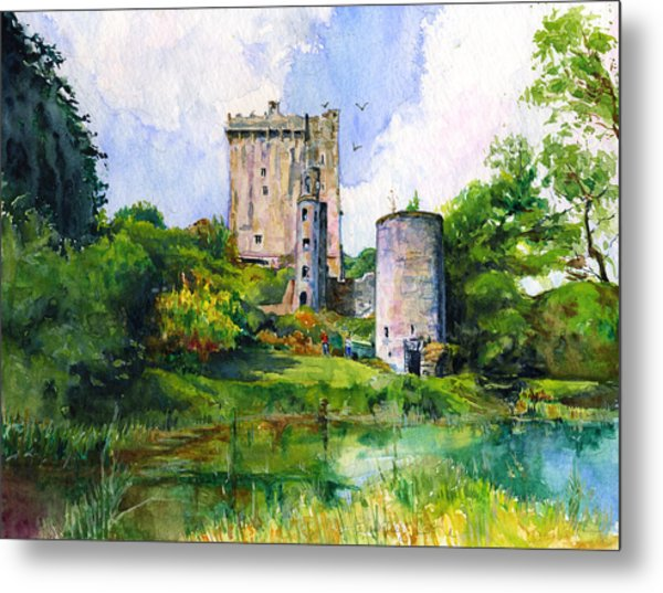 Blarney Castle Landscape Metal Print
