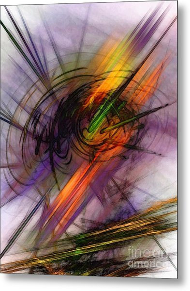 Blazing Abstract Art Metal Print