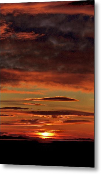 Metal Print featuring the photograph Blazing Sunset by Bryan Carter