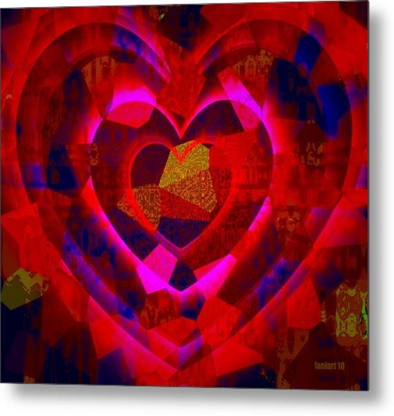 Bleeding Hearts For The Elderly In Haiti Metal Print by Fania Simon