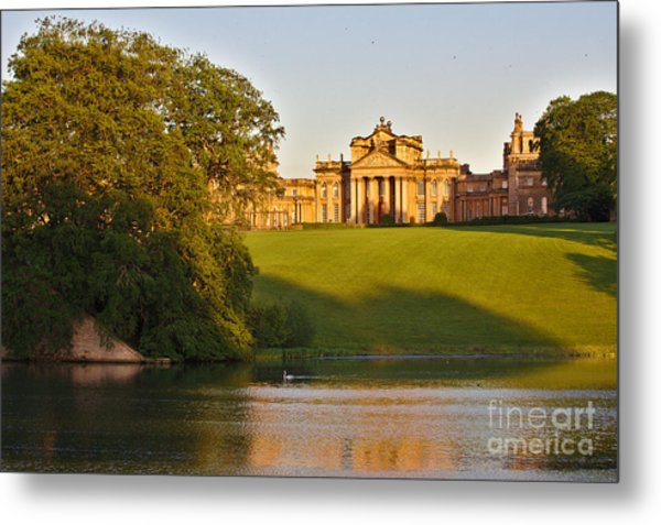 Blenheim Palace And Lake Metal Print