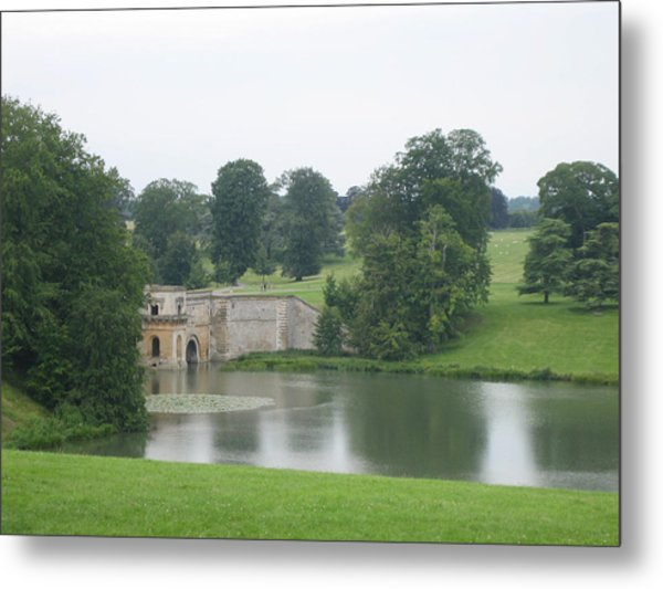 Blenheim Palace Lake Metal Print