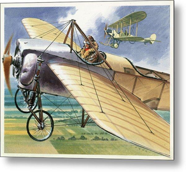 Bleriot Xi Monoplane Metal Print
