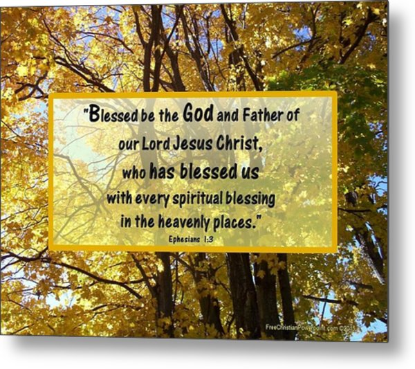 Metal Print featuring the photograph Blessed Be God by Sonya Nancy Capling-Bacle