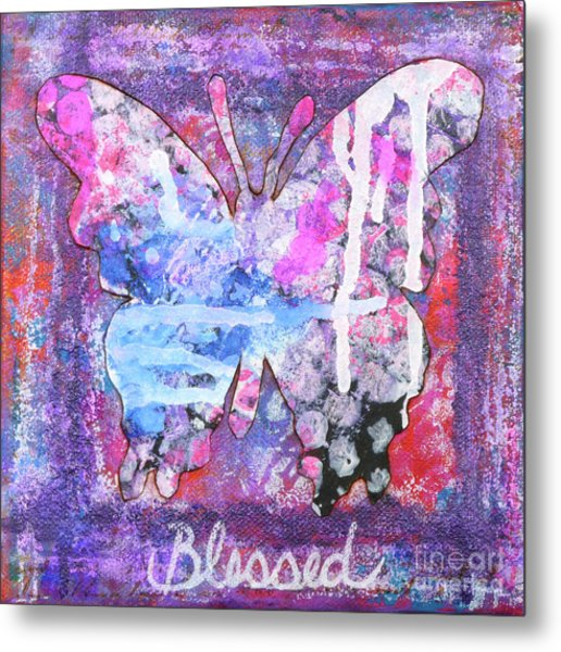 Blessed Butterfly Metal Print
