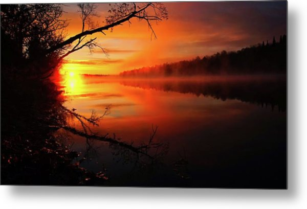 Blind River Sunrise Metal Print
