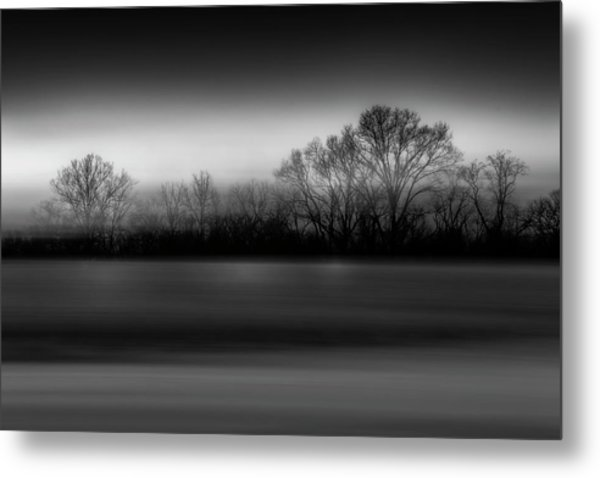 Blink Black And White Metal Print